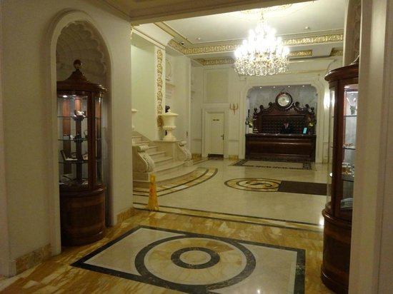 Hotel Savoy Moscow: Reception area with pattern Italian marbles, classy ...