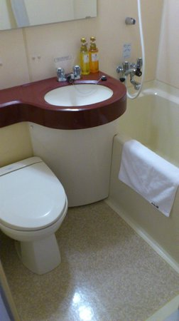 Hotel Alpha-1 Niigata: 狭めのお風呂です。