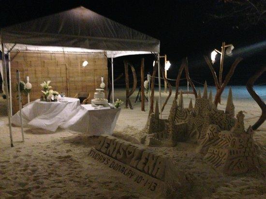 Fridays Boracay: Our wedding dinner shot