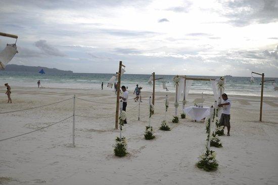 Friday's Boracay : Our wedding decoration by Friday's @Friday's beach