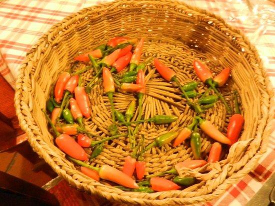 Ristorante La Tavernetta: Se chiedete il peperoncino vi portano questo