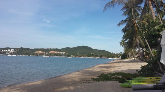 The Scent Hotel: Пляж - взгляд в сторону аэропорта