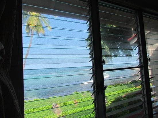 Keauhou Kona Surf & Racquet Club: view from bed