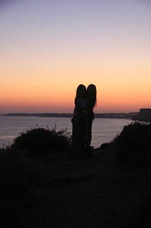 Luna Clube Brisamar: puesta de sol en el algarve