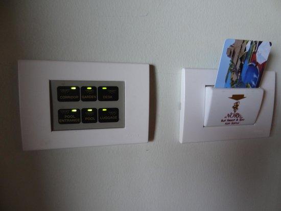 Nora Buri Resort & Spa : Switch board