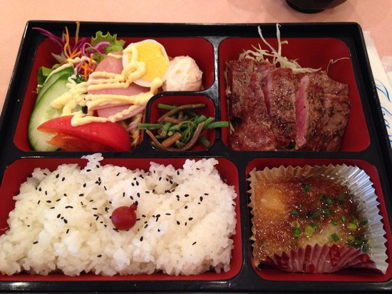 Takase, Itabashi: ステーキ弁当‼︎ぽん酢おろしで頂きます(≧∇≦)