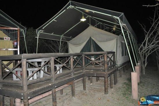 Mpila Camp: Our Safari tent no.33