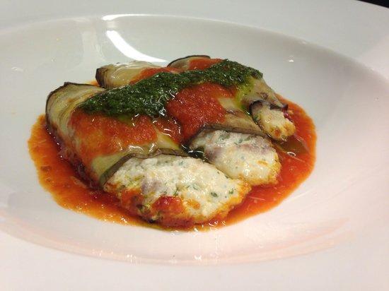 Spasso Restaurant at Grand Hyatt Erawan: Eggplant cannelloni
