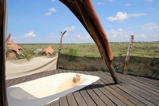 Amani Mara Camp : 部屋のベランダ