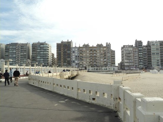 Blankenberge seafront apartment blocks from Belgium Pier