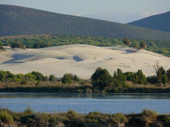 Porto Pino: stagno e visuale delle dune