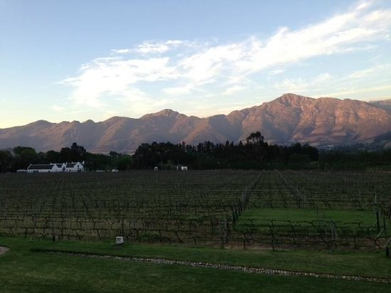 Franschhoek Kitchen: amazing views from the terrace