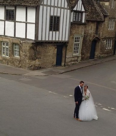 The Red Lion: the bride and groom!