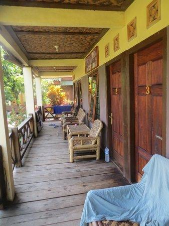 Surfcamp-Palmbeachkrui: terasse