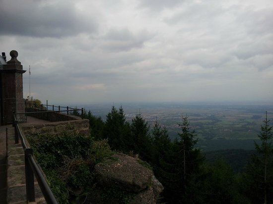 Hostellerie Du Mont Sainte-Odile : panoramic view of Alsace