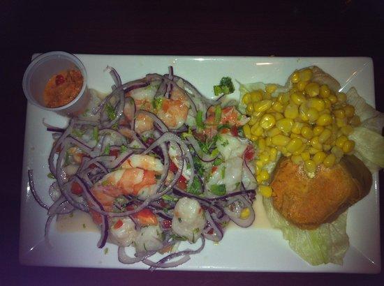 Ceviche Hut: Small fish and shrimp ceviche
