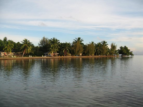 Hotel Atiapiti: La vue de l'hotel