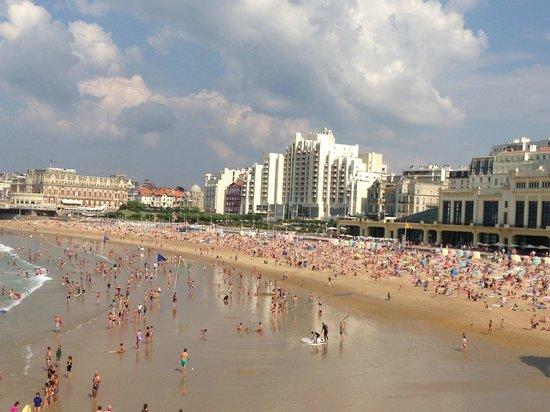 Côte des Basques: The sandy beach