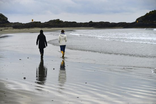 Wickaninnish Inn and The Pointe Restaurant: walk on the beach