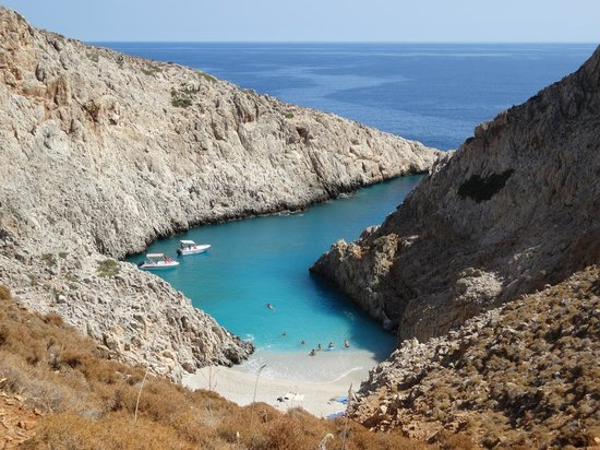 Akrotiri, กรีซ: aka Hidden Beach :)