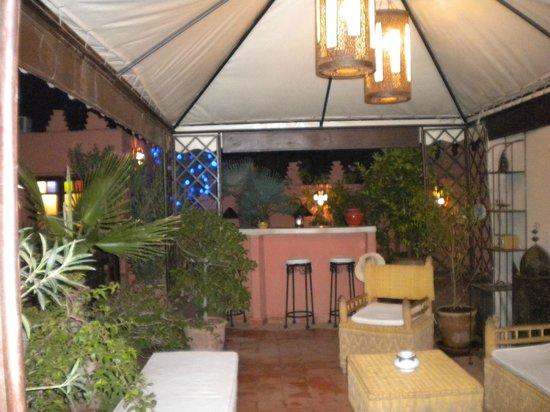 Riad Les Nuits de Marrakech : Roof top Bar