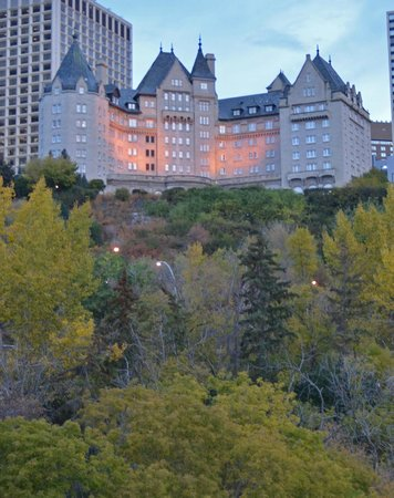 The Fairmont Hotel Macdonald: View from the river