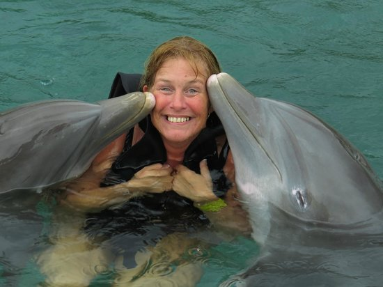 Dolphin Cove: If her smile was bigger her face would have broke..