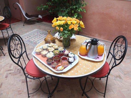 Riad Alena : Pour le petit-déjeuner