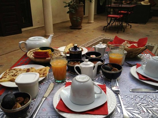 Riad Badi: Desayuno, Breakfast