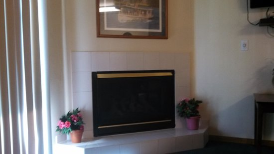 Cove of Lake Geneva: fireplace