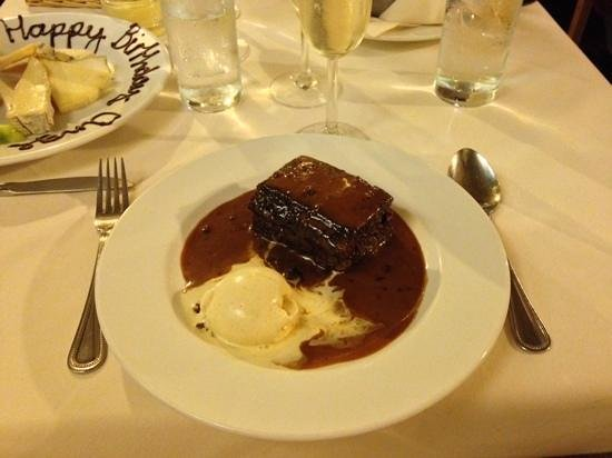 Le Caveau: Sticky Toffee Pudding. Nothing else comes close!