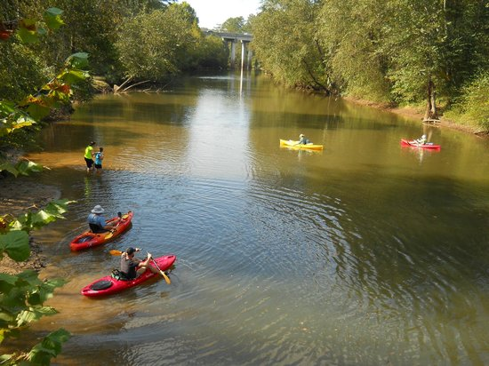 Little River Trail: Kayakers and waders