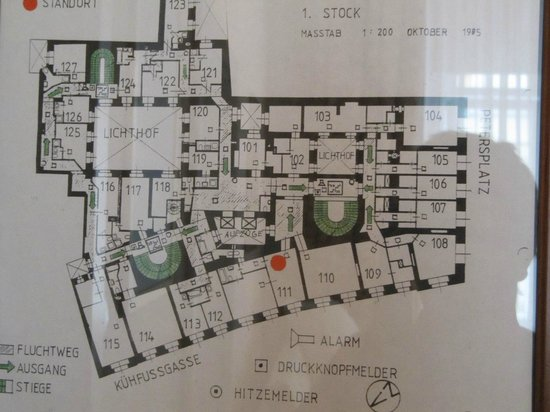 Hotel Wandl: Floor Plan  Seee room #111