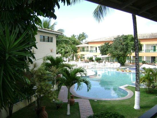 Hotel Beach Hills: Fotografado da varanda do quarto, esta área prestigia reunião de família e amigos.