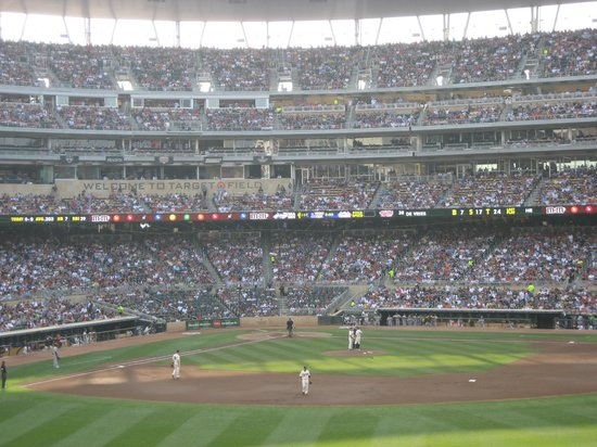 Target Field: View from the outfield