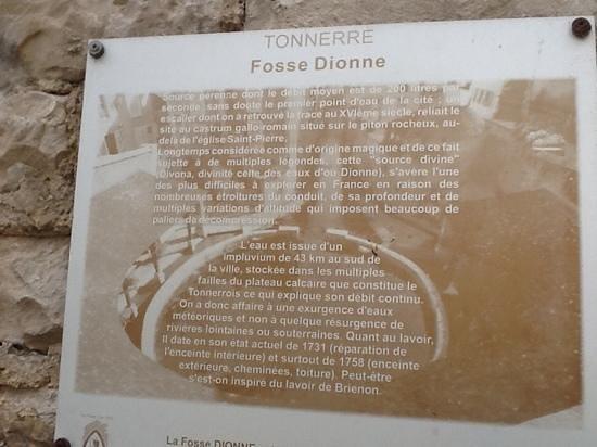 La Fosse Dionne : plaque