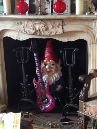 Miller's Hideaway at Great Brampton House : A Gnome with an in-flatible guitar, why not?