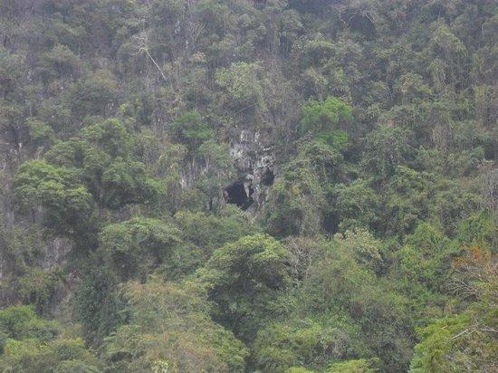 Tham Phu Kham Cave and Blue Lagoon: a look from afar