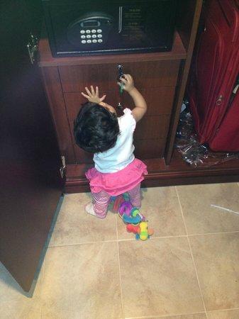 Armani Hotel Dubai: My daughter playing inside the room