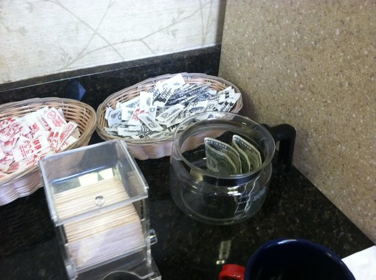 Holiday Inn Express Hotel & Suites: Tip jar?