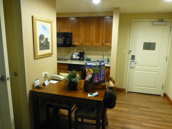 Homewood Suites Rochester - Victor: Kitchen (full-sized refrigerator not in view)