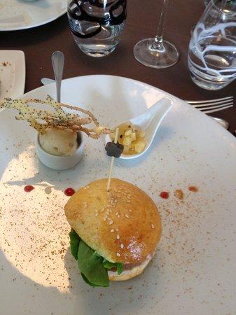 La Tivollière : Hamburger de foie gras ....à ne pas rater !