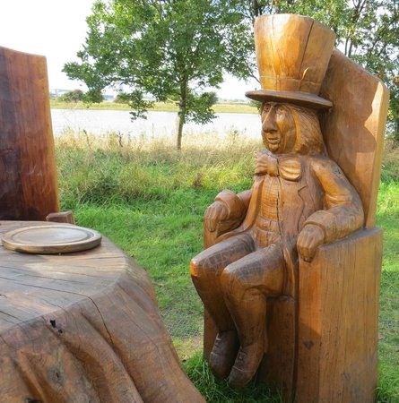 RSPB Saltholme: One of the many carvings!