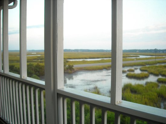 The Sunset Inn : Marsh View from Private Screened Porch