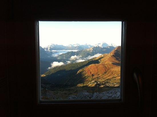 Rifugio Averau: View from the bathroom!!!