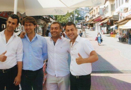 Dedem K. Restaurant: Four happy handsome brothers