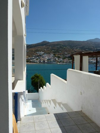View of bay from side of Villa Galazio