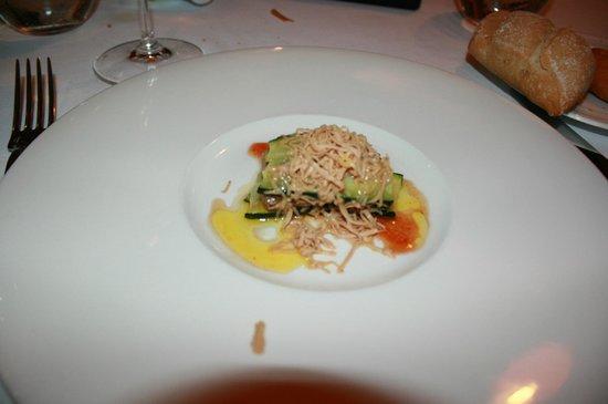 La Costa: plato de menú de degustación