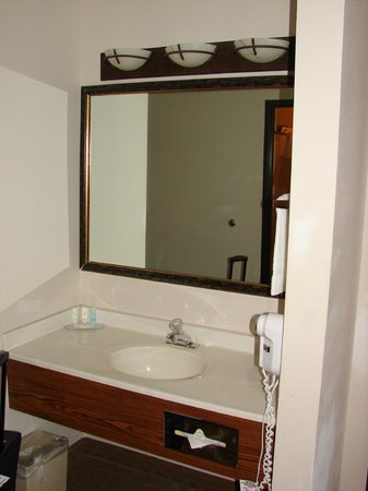 Quality Inn: Vanity outside of the toilet/shower room.