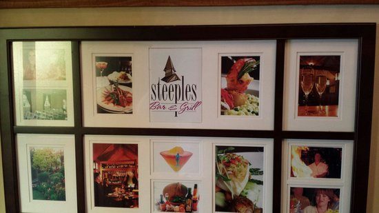 Steeples Restaurant: Marketing display
